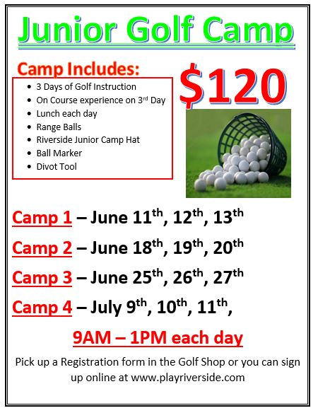 Junior Camp 2018 Flyer